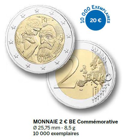 Monnaie 2 € BU Commémorative
