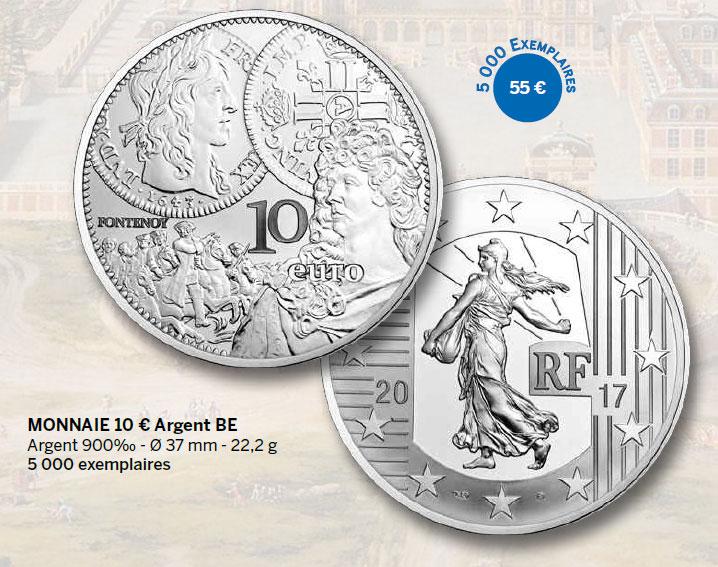 Monnaie 10 € Argent BE