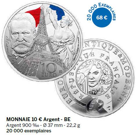 Monnaie 10 € Argent - BE