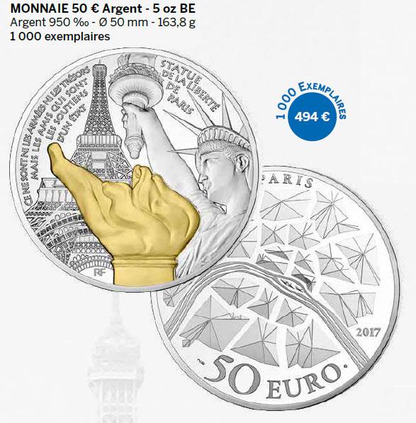 Monnaie 50 € Argent - 5 oz BE