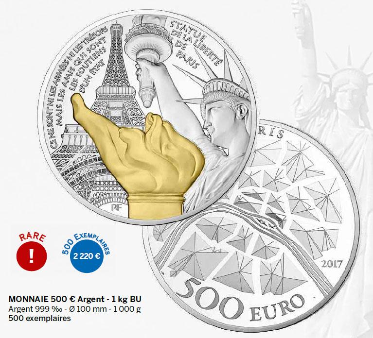 Monnaie 500 € Argent - 1 kg BU