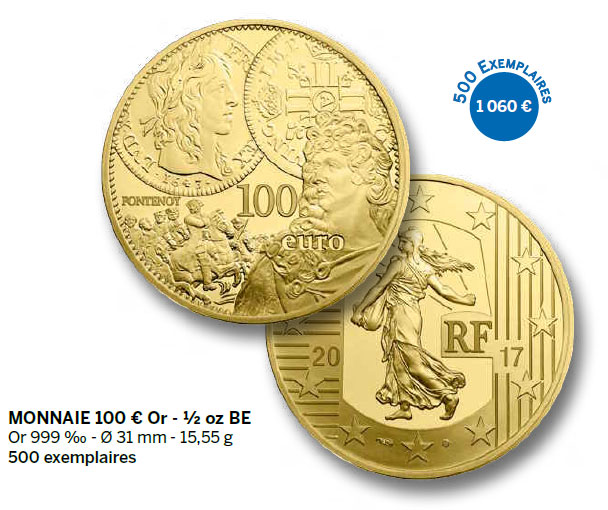 Monnaie 100 € Or - ½ oz BE
