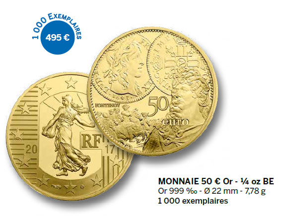 Monnaie 50 € Or - ¼ oz BE