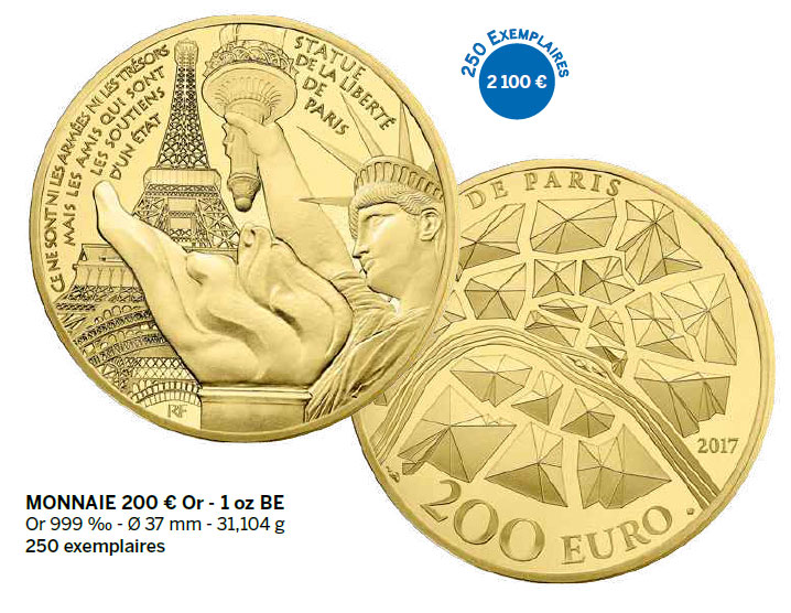 Monnaie 200 € Or - 1 oz BE