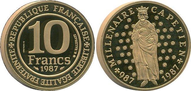 Piéfort millénaire Capétien 1987