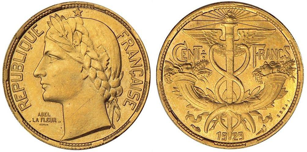 100 francs or 1929 Essai