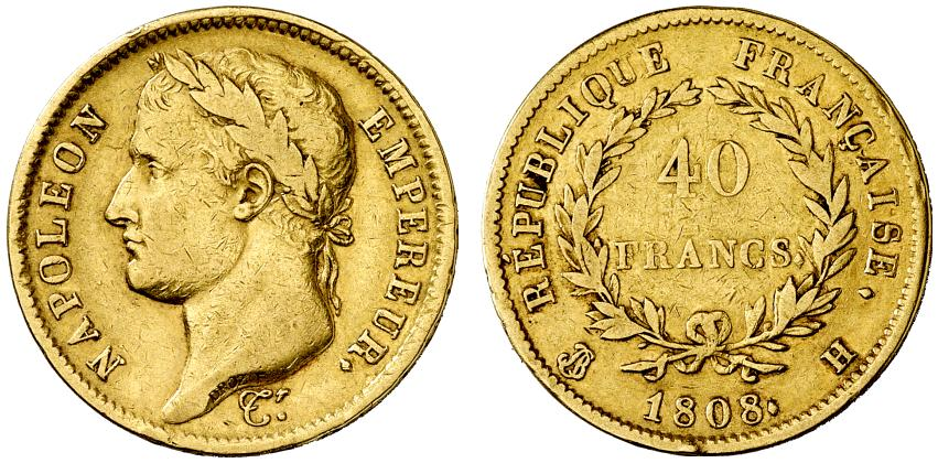40 francs or 1808 H