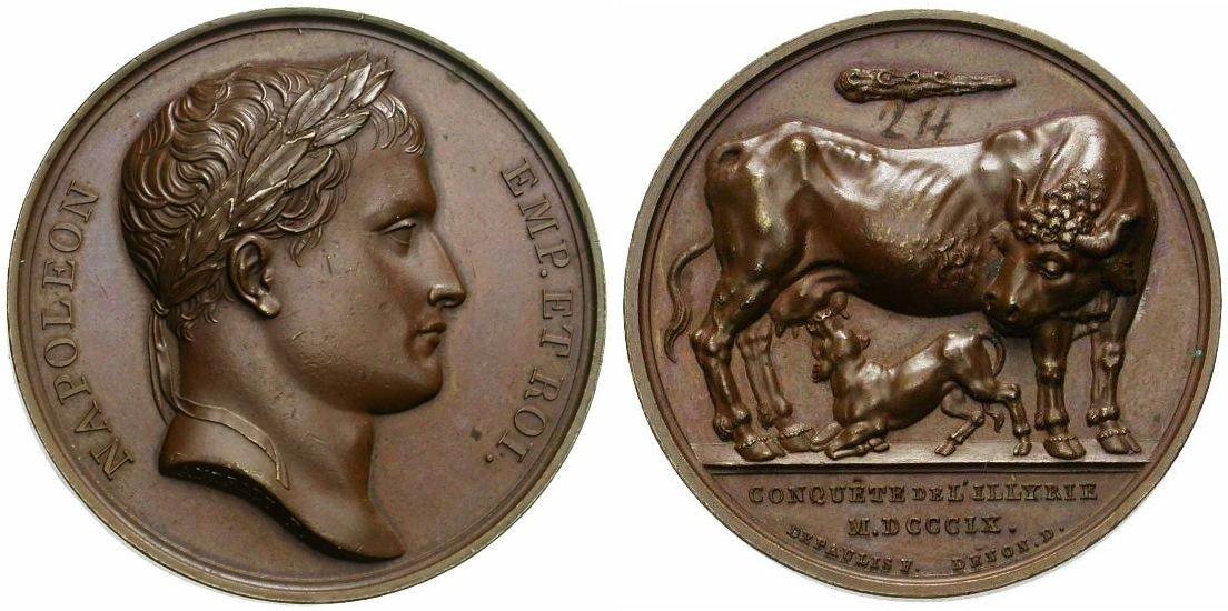 Médaille du jour : Napoléon conquête de l'Illyrie