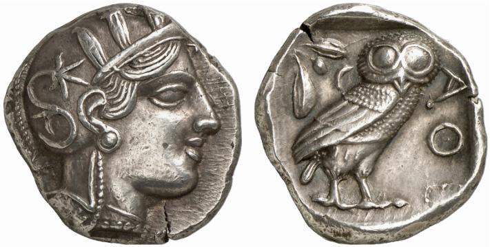 Monnaie à la chouette d'Athènes