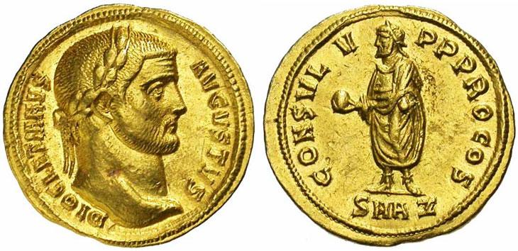 Monnaie du jour : Dioclétien instaure la Tétrarchie