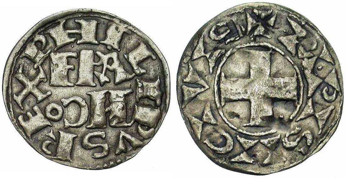 Photo d'une monnaie de Philippe Auguste
