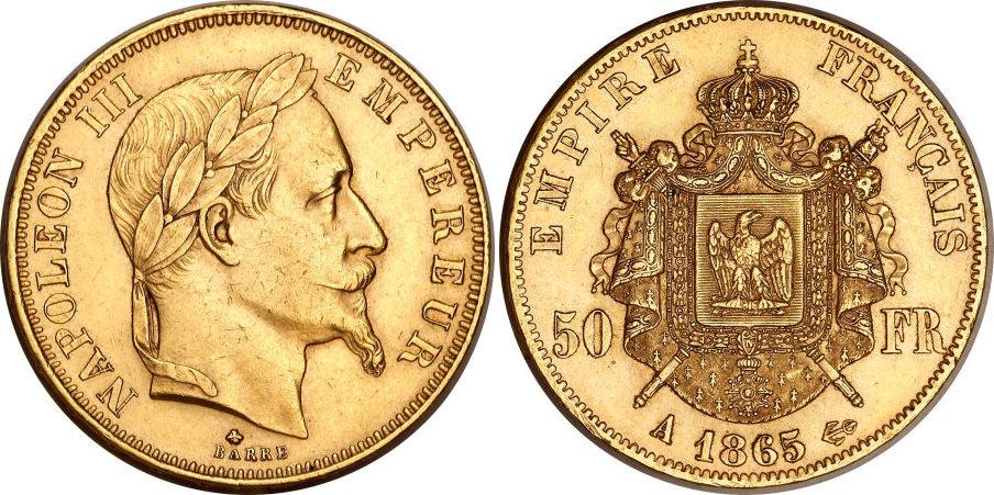 50 francs or 1865 A