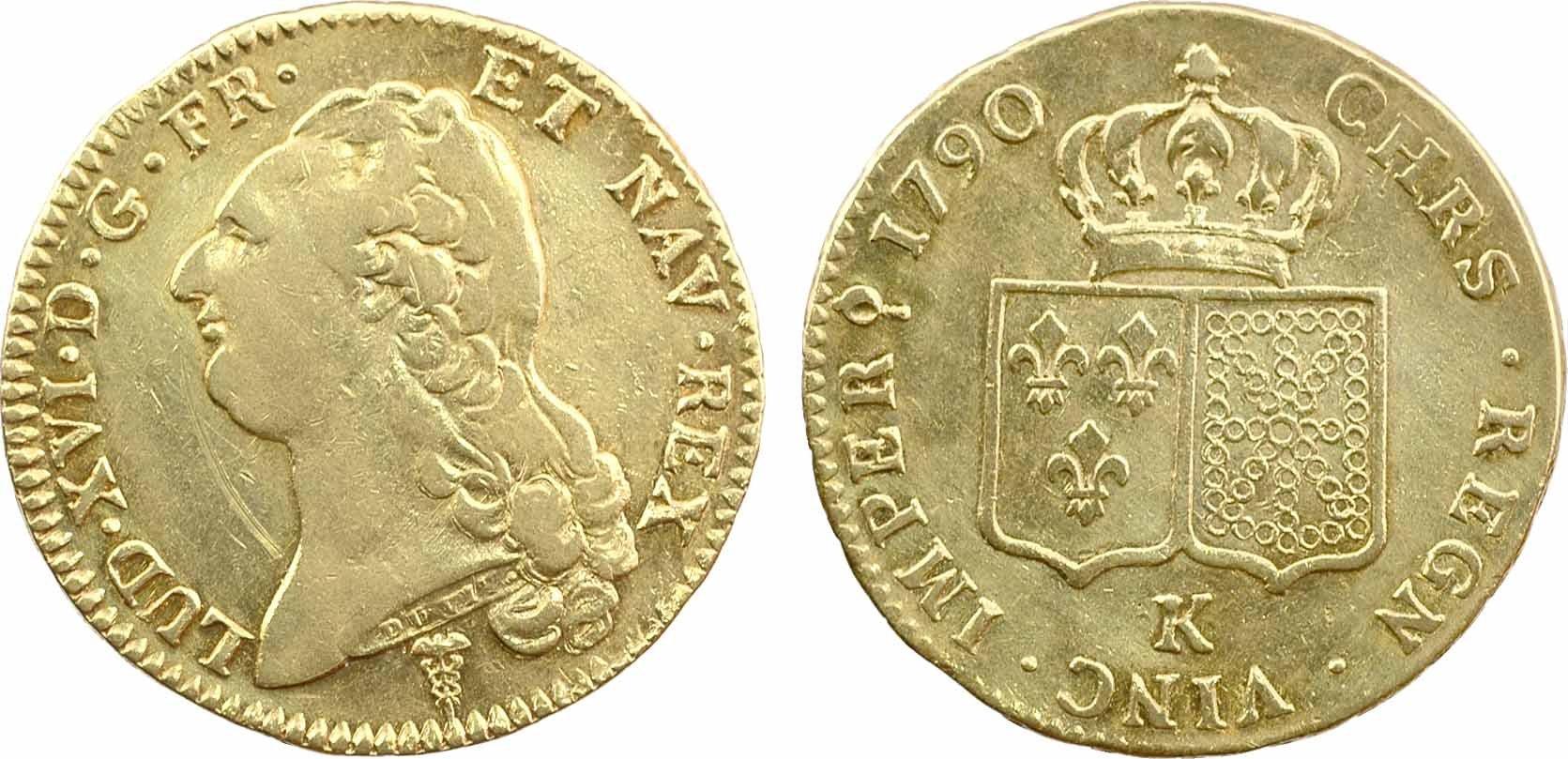 Double Louis d'or à la tête nue