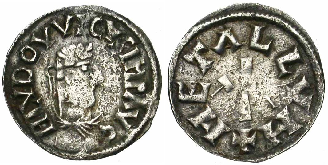 Photo de cette monnaie de Louis le Pieux