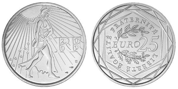 Photo de la pièce de 25 euro Argent 2009