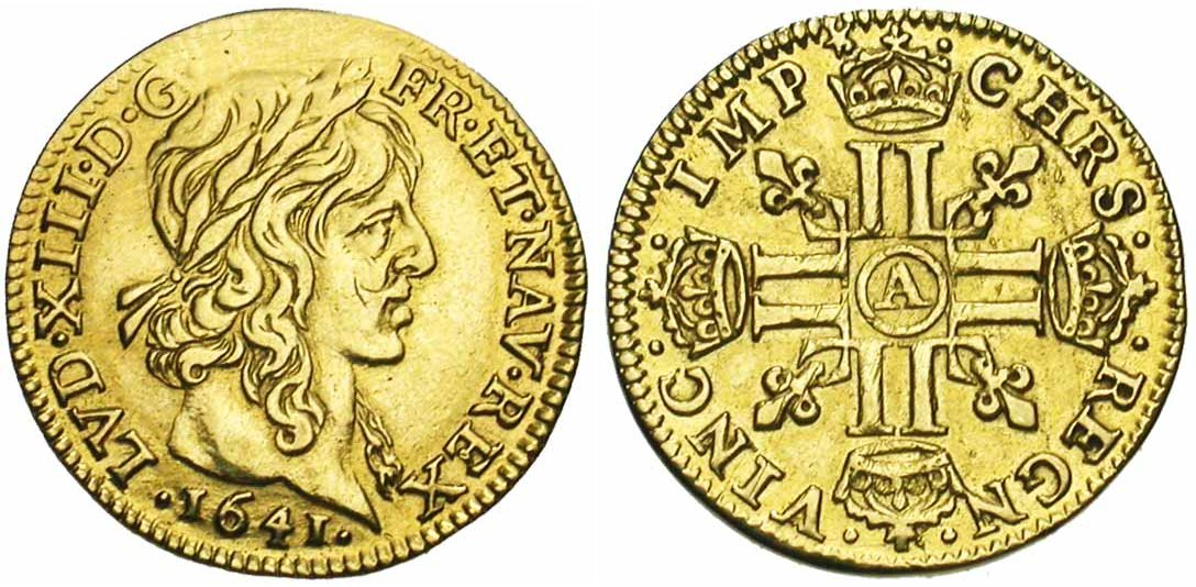 Demi Louis d'or de Louis XIII