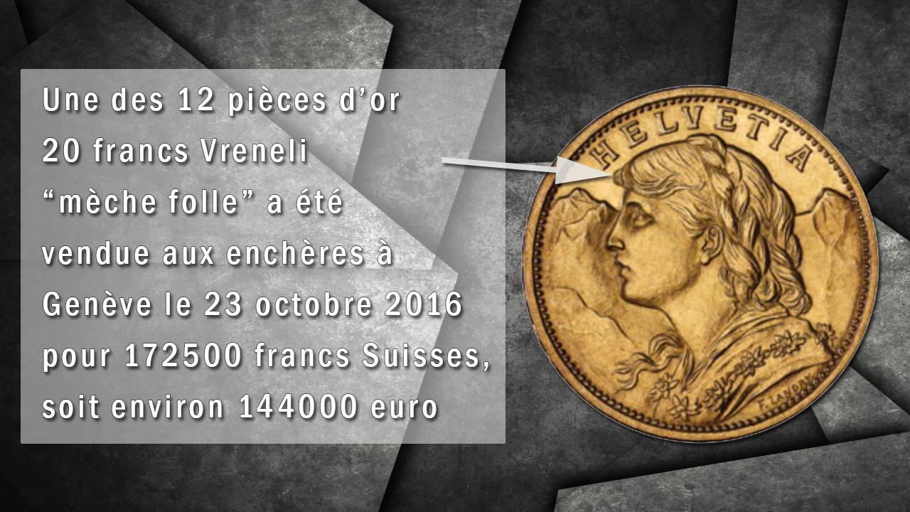 Pièce de 20 francs or Suisse Vreneli