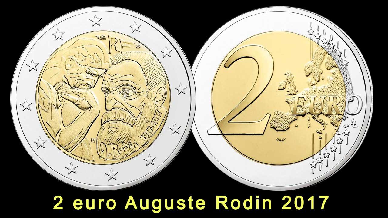 Photo de la pièce de 2 euro Auguste Rodin