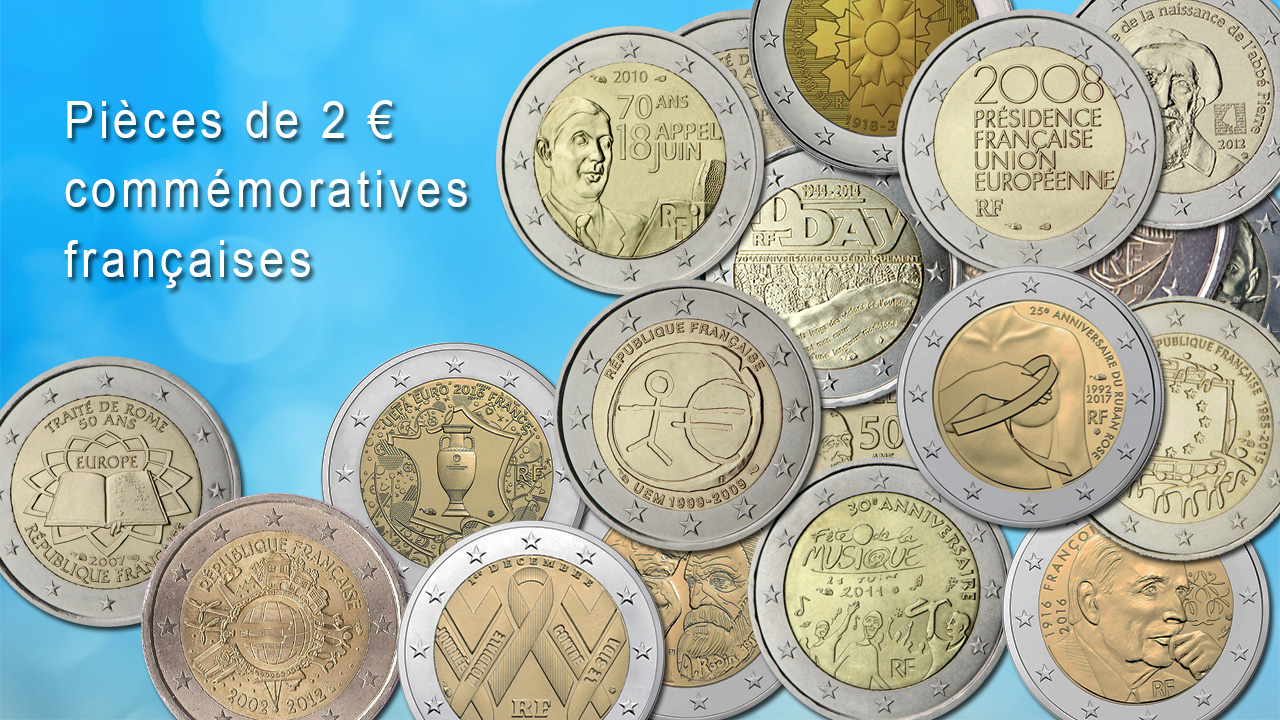 Pièces de 2 euro commémoratives françaises