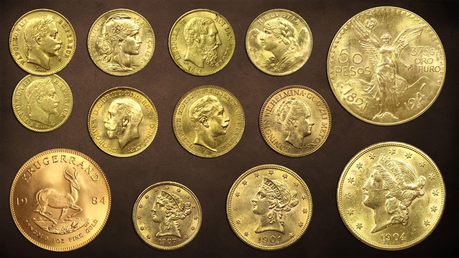 Les principales pièces d'or d'investissement classiques