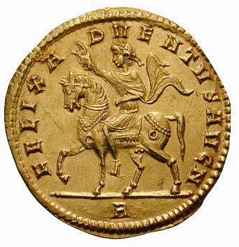 Exemple de représentation de l'Adventus sur une monnaie de Constance II
