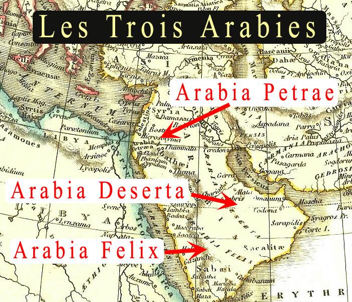 CARTE PRESENANT LES TROIS ARABIES