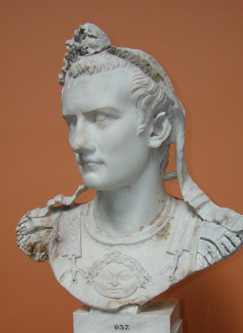 Buste de Marbre de l'Empereur Caligula, Ny Carlsberg Glyptotek.