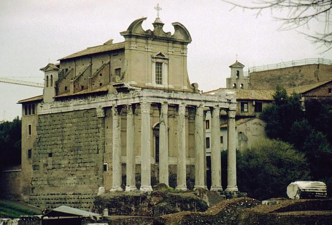 Vestiges du temple du