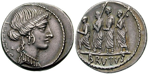 Exemple de monnaie romaine représentant la Liberté