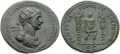 Dupondius de l'Empereur Trajan
