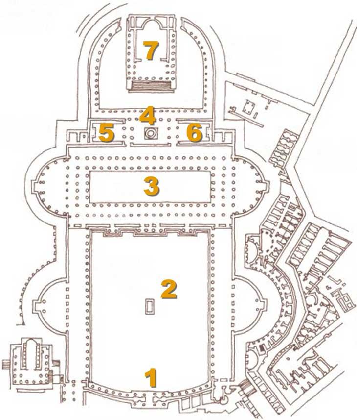 Plan du Forum de Trajan à Rome