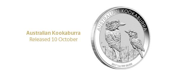 Photo des nouvelles pièces d'argent d'investissement au kookaburra d'Australie 2017