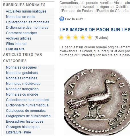SACRA-MONETA : plus de 1000 pages d'Articles numismatiques !