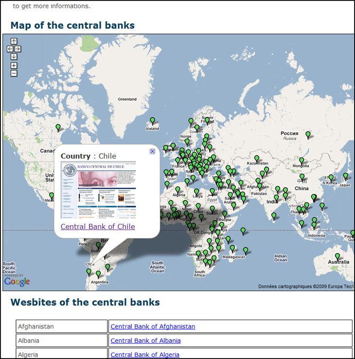 Capture d'écran du site centralbank.monnaie.me