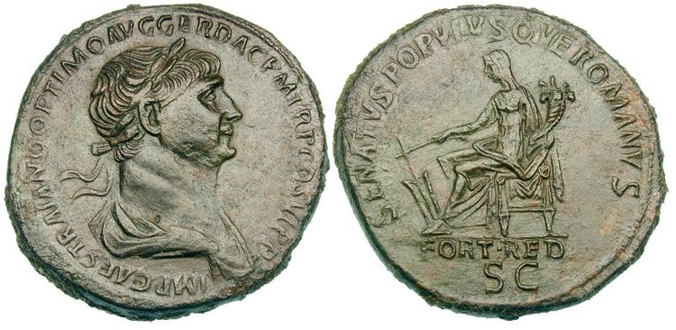Corne d'abondance sur une monnaie antique n°1