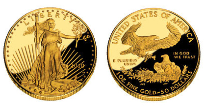Exemple de pièces d'or pur à 24 carats