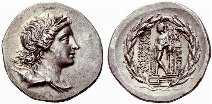 Artémis sur une monnaie grecque de Magnésie