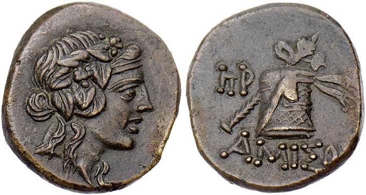 Dionysos sur une monnaie grecque du Pont