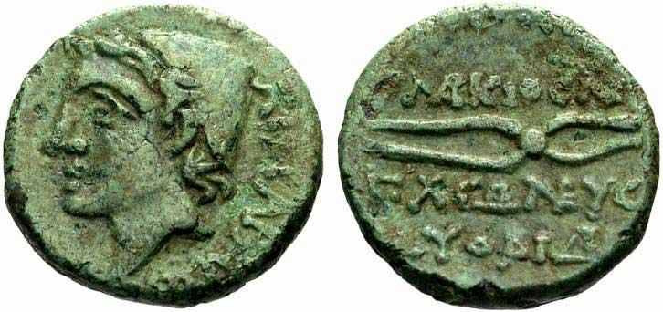 Héphaïstos sur une monnaie grecque de Lipara