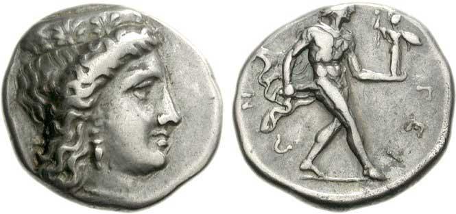 Héra sur une monnaie grecque d'Argos