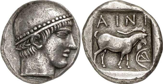 Hermès sur une monnaie grecque de Thrace