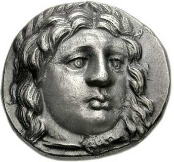 Apollon sur une monnaie grecque de Carie