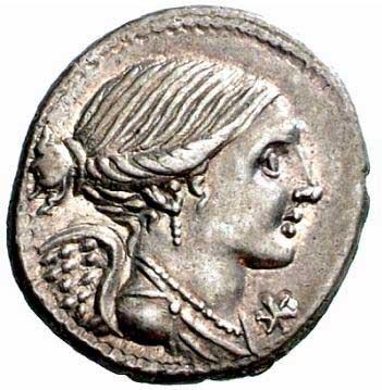Victoire sur un denier romain