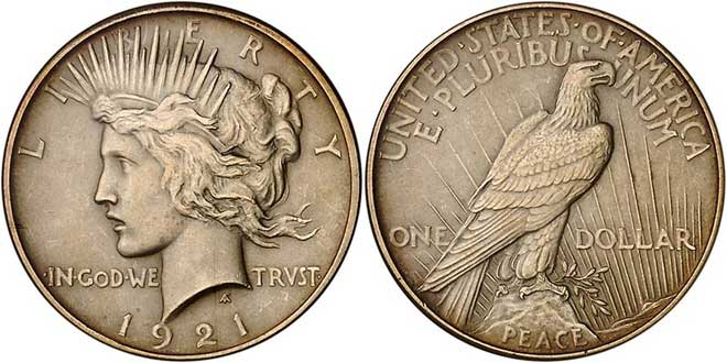 Type : Pièce de 1 Dollar au type Peace Dollar (1921-1935)