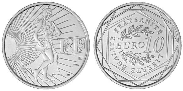 Pièce de 10 euros argent
