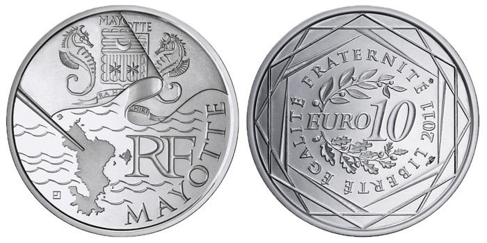 Pièce de 10 euro Mayotte de la Monnaie de Paris