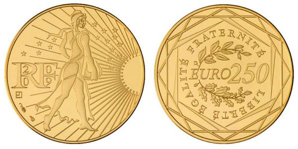 Pièce de 250 euros or