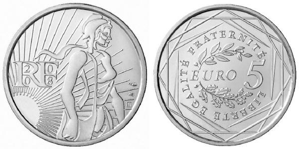 Pièce de 5 euros argent