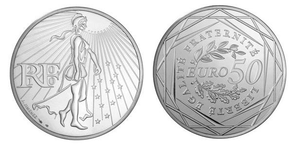 Pièce de 50 euros argent