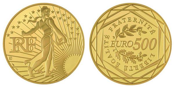 Pièce de 500 euros or